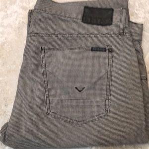 Men's Hudson Jeans Blake Slim Herringbone Pattern